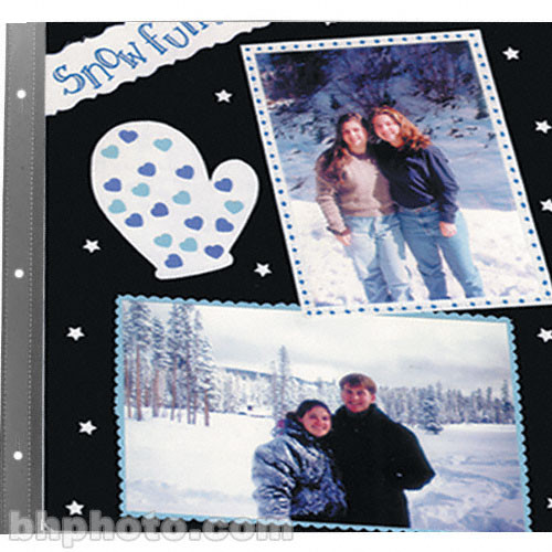 """Pioneer Photo Albums Refill Pages for Most Snapload, Post-Bound, 3-Ring,Staple-Strap Style Scrapbooks (12x12"""", Black, Pack of 5)"""