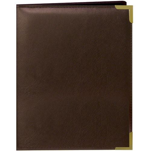 Pioneer Photo Albums Oxford Brass-Corner Mini Photo Album (Brown)