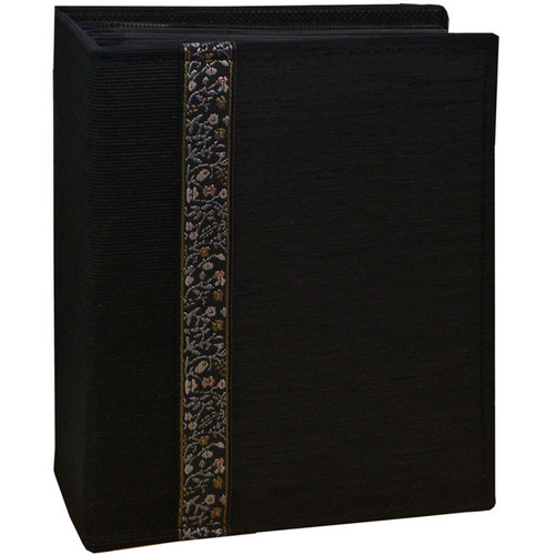 Pioneer Photo Albums TF4100-BK Tone-on Tone Fabric Photo Album (Black)