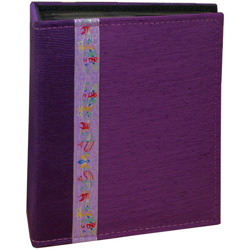 Pioneer Photo Albums TF4100-PR Tone-on Tone Fabric Photo Album (Purple)