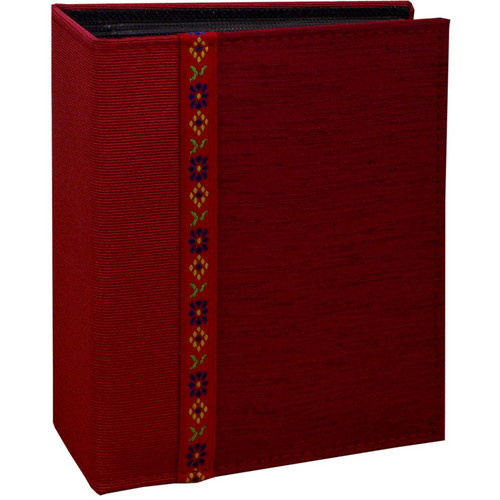 Pioneer Photo Albums TF4100-R Tone-on Tone Fabric Photo Album (Red)