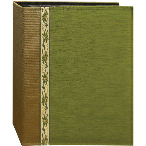Pioneer Photo Albums TFP246-GN Tone-on Tone Fabric Photo Album (Green)