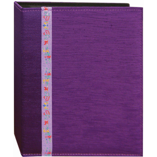 Pioneer Photo Albums TFP246-PR Tone-on Tone Fabric Photo Album (Purple)