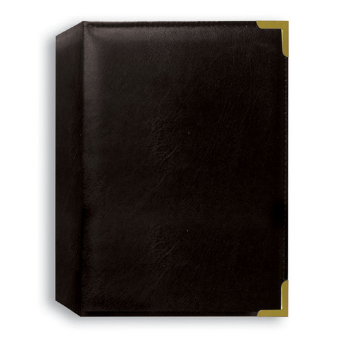 Pioneer Photo Albums TS246-BK Oxford Brass Corner Photo Album (Black)