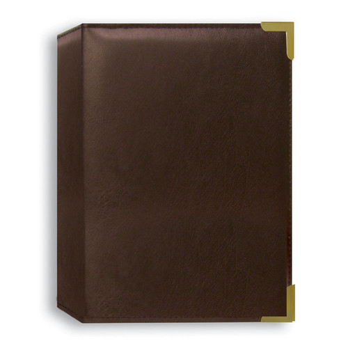 Pioneer Photo Albums TS246-BN Oxford Brass Corner Photo Album (Brown)