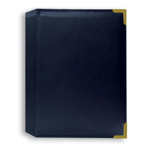 Pioneer Photo Albums TS246-NB Oxford Brass Corner Photo Album (Navy Blue)