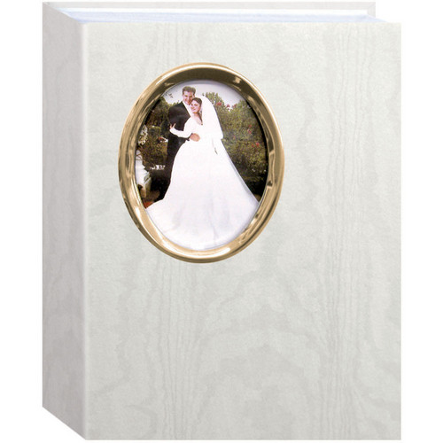 "Pioneer Photo Albums Oval Framed Wedding Album - 4 x 6"" (Gold Oval Frame)"