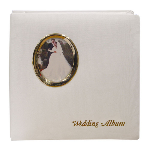 "Pioneer Photo Albums WF5781-GT Oval Framed Wedding Album (Gold Oval Frame with Inscribed ""Wedding Album"")"
