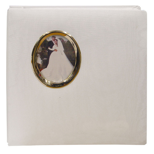 Pioneer Photo Albums WF5781-G Oval Framed Wedding Album (Gold Oval Frame)