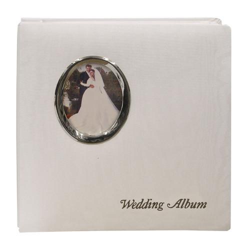 "Pioneer Photo Albums WF5781-ST Oval Framed Wedding Album (Silver Oval Frame with Inscribed ""Wedding Album"")"