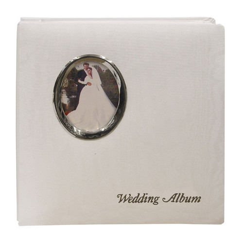 "Pioneer Photo Albums WF5781-ST Oval Framed Wedding Album (Silver Oval Frame with Inscribed ""Wedding Album"")"