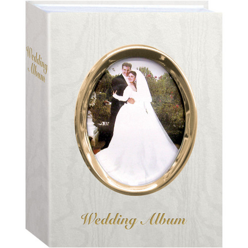 "Pioneer Photo Albums WFM46-GT Oval Framed Wedding Album (Gold Frame with Inscribed ""Wedding Album"")"