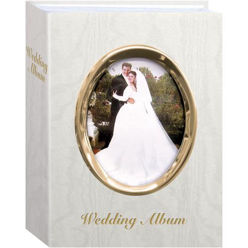 """Pioneer Photo Albums WFM46-GT Oval Framed Wedding Album (Gold Frame with Inscribed """"Wedding Album"""")"""