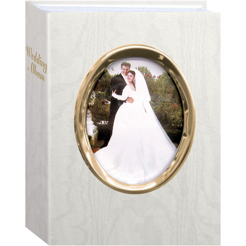 Pioneer Photo Albums WFM46-G Oval Framed Wedding Album (Gold Frame)