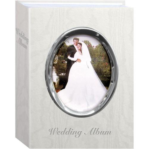 "Pioneer Photo Albums WFM46-ST Oval Framed Wedding Album (Silver Frame with Inscribed ""Wedding Album"")"