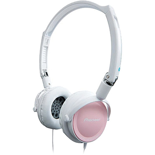 Pioneer SE-MJ21 On-Ear DJ-Style Headphones (White/Pink)