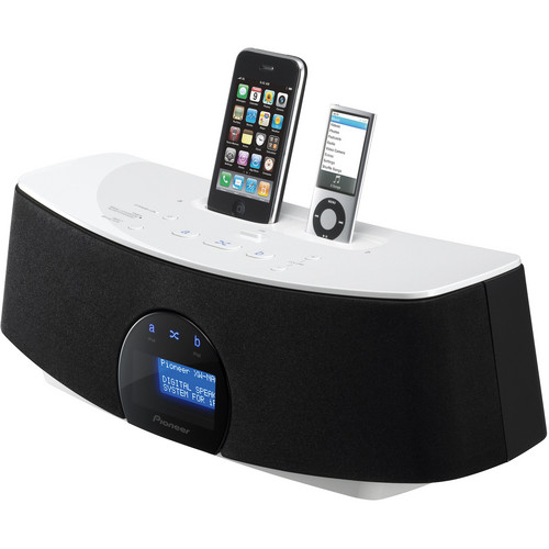 Pioneer XW-NAC3-K Double Dock for iPod & iPhone (Black and White)