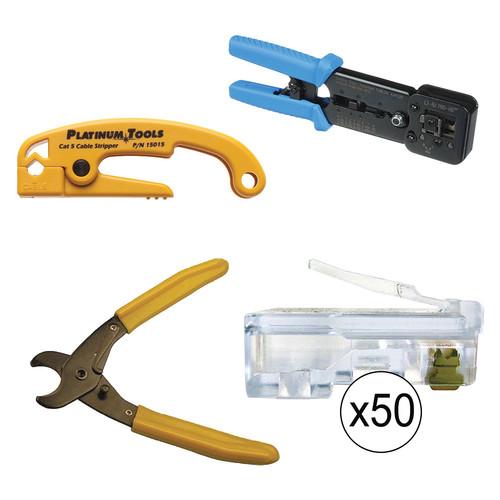 Platinum Tools 100016 EZ-RJPRO HD Basic Installation Kit Bundle