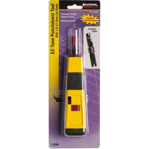 Platinum Tools 13208C EZ-Tune Punchdown Tool with 13002 110 EZ-Data Cut Blade