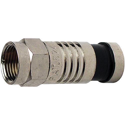 Platinum Tools F-Type Nickel SealSmart Coaxial Compression RG59 Connector (10 Pieces Clamshell)