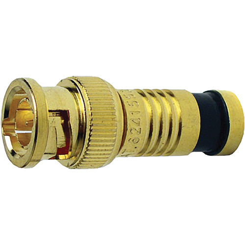 Platinum Tools BNC-Type Gold SealSmart Coaxial Compression RG6 Connector (6 Pieces Clamshell)
