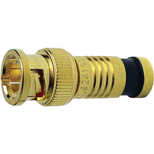 Platinum Tools BNC-Type Gold SealSmart Coaxial Compression RG6 Connector (25 Pieces Bulk Packaging)