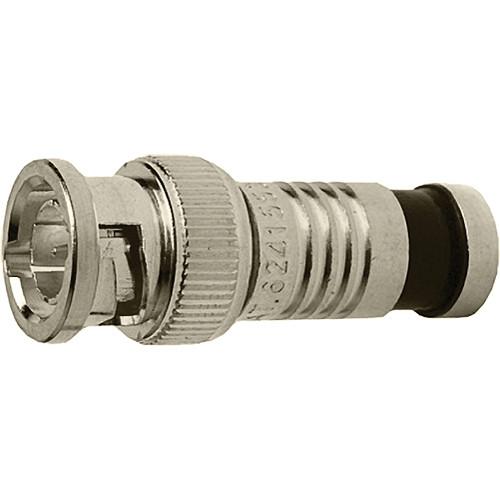 Platinum Tools BNC-Type Nickel SealSmart Coaxial RG6 Quad Connector (6 Pieces Clamshell)
