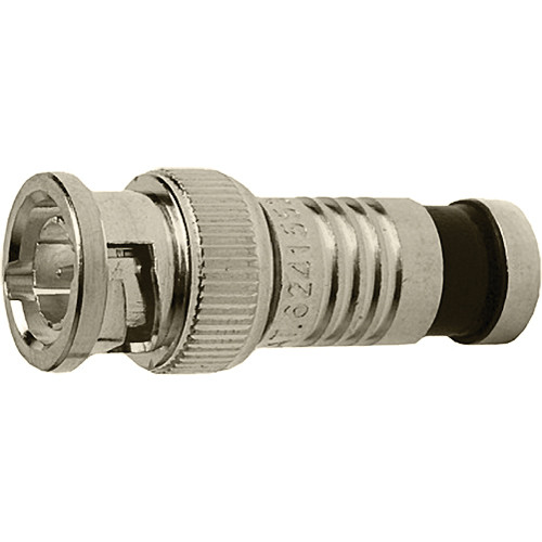 Platinum Tools BNC-Type Nickel SealSmart Coaxial Compression RG6 Connector (6 Pieces Clamshell)