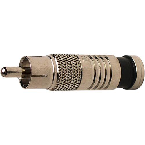Platinum Tools RCA-Type Nickel SealSmart Coaxial Compression RG6 Connector (25 Pieces Bulk Packaging)