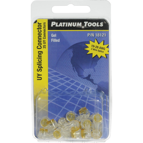 Platinum Tools Telcom Splicing UY-Gel Filled Connectors (Clamshell Pack of 25)