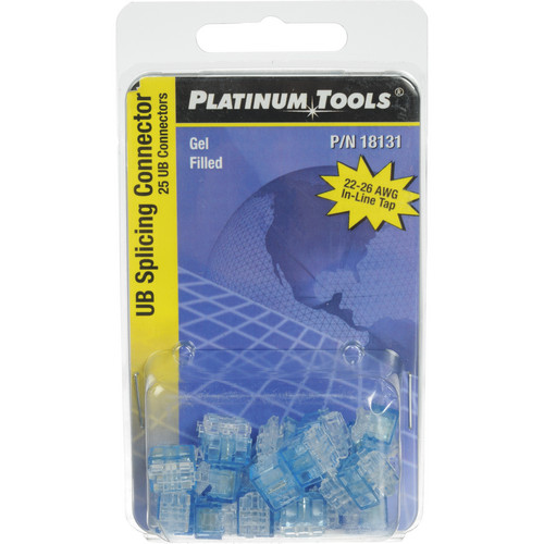 Platinum Tools 18131 UB-Type 22-26 AWG Splicing Connector (25-Pack, Clamshell)