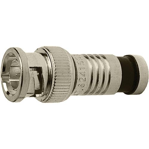 Platinum Tools BNC-Type Nickel RGB Mini Coax-23 AWG Connector (25 Pieces Bulk Package)