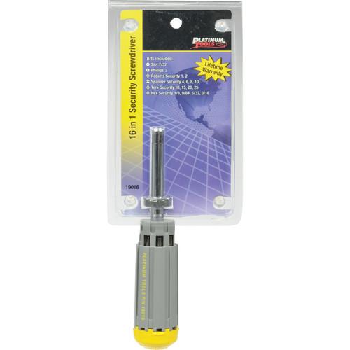Platinum Tools 19016 16-in-1 Security Screwdriver