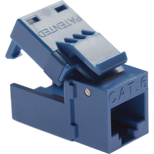 Platinum Tools EZ-SnapJack- Cat6 Blue, (4 Pieces)