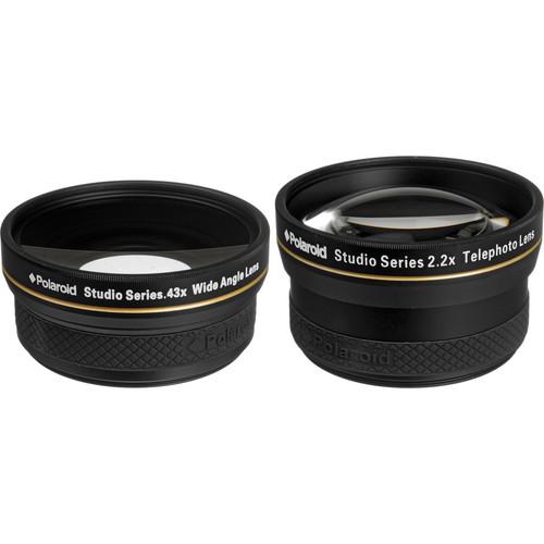 Polaroid Studio Series 58mm 2.2x Telephoto & 0.43x Wide Angle Lens Travel Kit