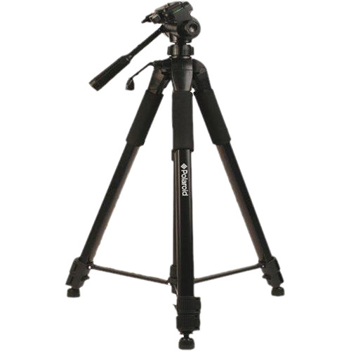 "Polaroid 72"" Tripod w/3-Way Pan/Tilt Head (Black)"
