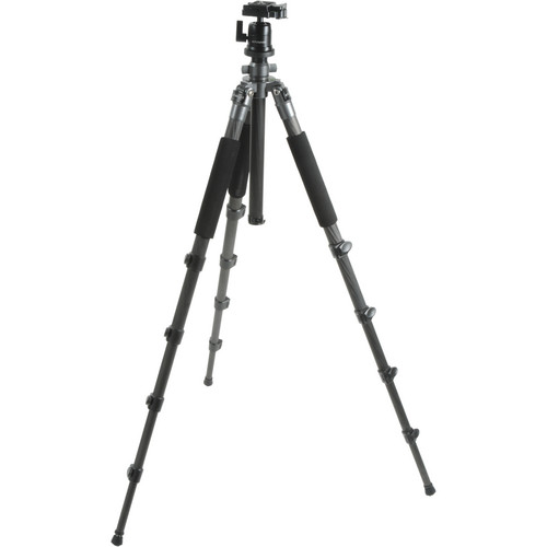 "Polaroid PLTRIC75 75"" 5-Section Carbon Fiber Tripod with Removable Ball Head"