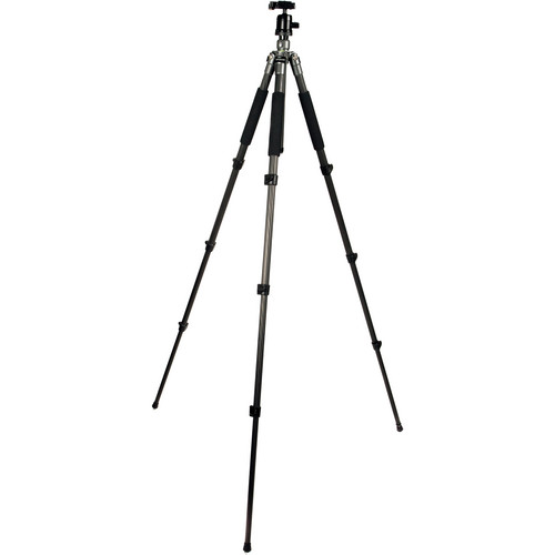 "Polaroid 65"" Ultra-Light Carbon Fiber Tripod with Ball Head (Black)"