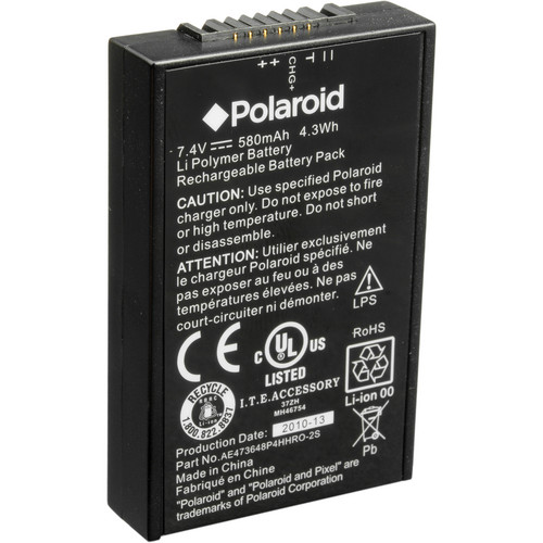 Polaroid LBTZCAM Battery Pack for PoGo Printer, PoGo Camera and Z2300 Camera (580mAh)