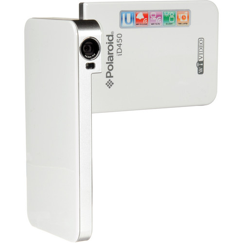 Polaroid iD450 WiFi Enhanced Digital Camcorder (White)