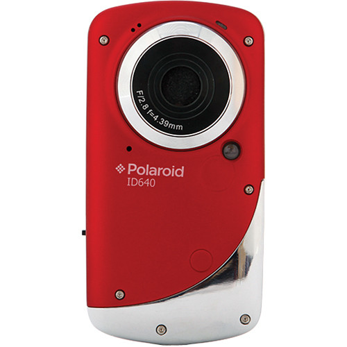 Polaroid iD640 HD Waterproof Pocket Video Camcorder (Red)