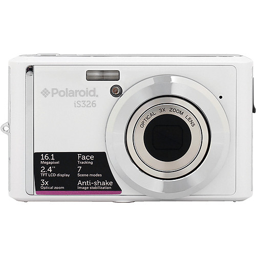 Polaroid iS326 Digital Camera (White)