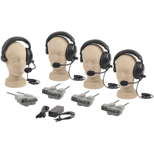 PortaCom PRO-540S 4-User ProLink Single-Ear Wireless Beltpack Intercom System