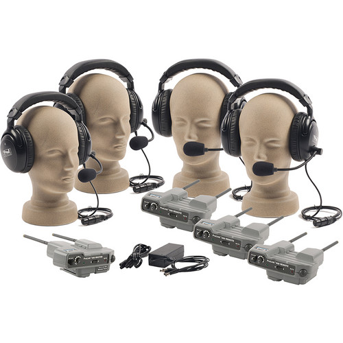 PortaCom PRO-540 4-User ProLink Dual-Ear Wireless Beltpack Intercom System