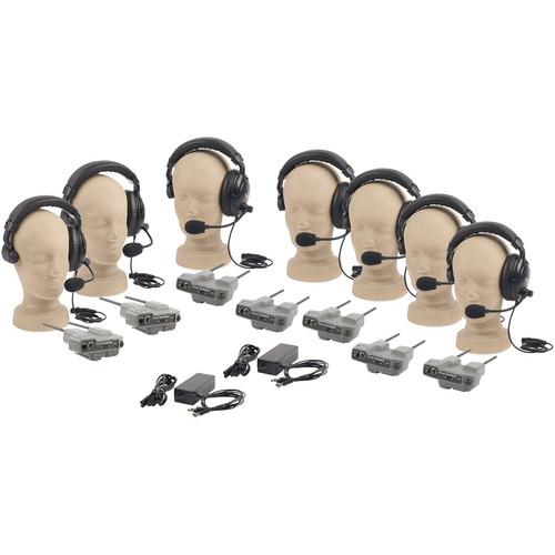PortaCom PRO-570S 7-User ProLink Single-Ear Wireless Beltpack Intercom System