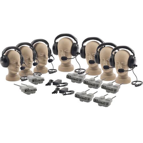 PortaCom PRO-570 7-User ProLink Dual-Ear Wireless Beltpack Intercom System