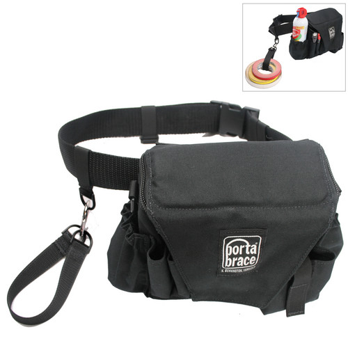 Porta Brace ACB-3B Assistant Camera Pouch with Belt (Large, Midnight Black)