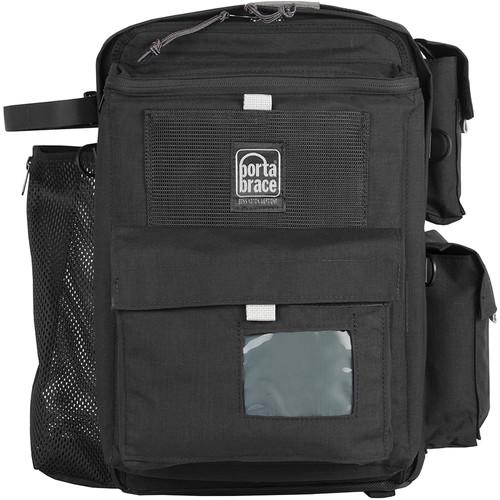 Porta Brace BK-1NRQS-M3 Backpack (Black with Red Trim)