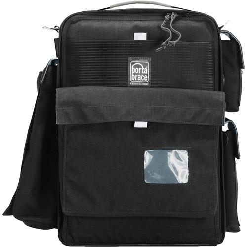 Porta Brace BK-2NR Backpack Camera Case (Medium, Midnight Black with Copper Trim)