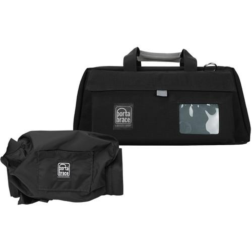 PortaBrace CS-DV3R Mini-DV Camcorder Case with Universal Cradle and QS-M2 Mini Quick Slick Rain Slicker - for Most Mini DV Camcorders (Black)